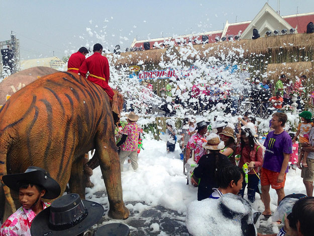 Songkran Water Festival by James Antrobus/ CC BY
